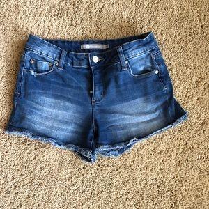 Girls denim cut off shorts